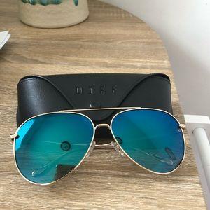 Diff Nala Gold + Blue Polarized sunglasses